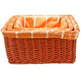 Úložný box oranžový rozměry boxu (cm): Sada  51x39x226 44x32x23 37x26x20