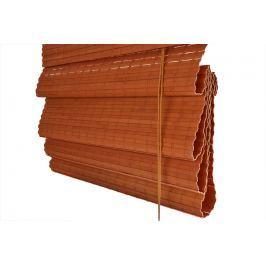 Bambusová římská roleta oranžová Šířka x délka: 100x150