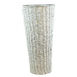 Kulatá váza bílá Rozměry: sada:   35x75/30x65/25x55
