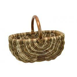 Ratanový košík na nákup v hnědých odstínech