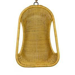 Závěsné ratanové křeslo medové Rozměry (cm): Včetně stojanu
