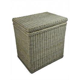 Ratanový koš na prádlo šedý Rozměry (cm): 56x40, v. 60