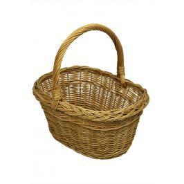 Hranatý proutěný košík na nákup Rozměry (cm): 41x35, v. 40