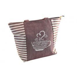 Lehká pruhovaná kabelka s 2 uchy Modní doplňky