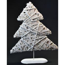 Vánoční stromeček dekorace - dřevěný bílý