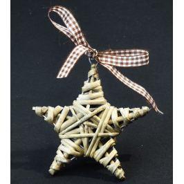 Vánoční ozdoba hvězdička – šedá 5 ks