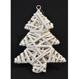 Vánoční stromeček ozdoba – bílý - 2 ks