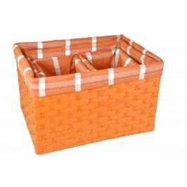 Úložný box oranžový rozměry boxu (cm): Sada  40x30x25,5 35x26x23,5 22x16x22,5 22x16x22,5