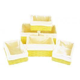 Sada 6 úložných boxů žlutých