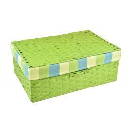Úložný box s víkem zelený Rozměry (cm): 40x27, v. 15