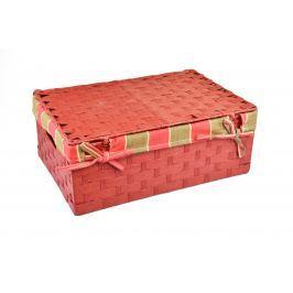 Úložný box s víkem červený Rozměry (cm): 48x30, v. 17