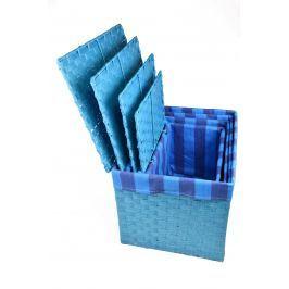 Úložný box s víkem modrý rozměry boxu (cm): Sada  43x32x30 40x29x28 36x25x26 32x21x24