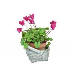Květináč košíček šedý
