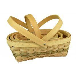 Sada 3 košíčků přírodních se sklopným úchytem