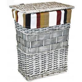 Koš na prádlo šedý Rozměry (cm): sada