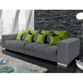Swing Big Sofa, šedá/zelená tkanina