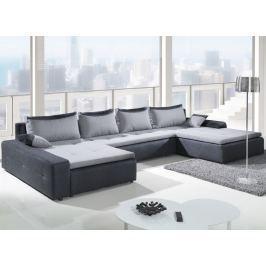 London Max, tvar U, tmavě šedá/světle šedá tkanina