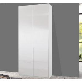 New York D, 90 cm, bílá/bílý lesk
