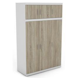 Ares 3D, bílá/dveře dub sonoma