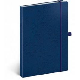 Notes - Vivella Classic modrý/modrý, tečkovaný, 15 x 21 cm