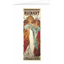 Blahopřání Alfons Mucha – Champagne Ruinart