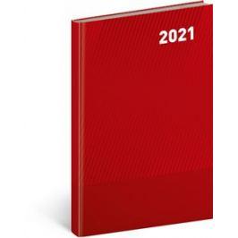 Týdenní diář Cambio Classic 2021, červený, 15 × 21 cm