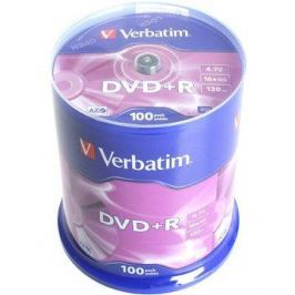 Verbatim DVD+R 16x, 100ks cakebox
