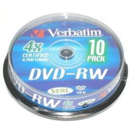 Verbatim DVD-RW 4x, 10ks cakebox