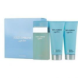 Dolce & Gabbana Light Blue Woman EDT 100 ml + tělové mléko 100 ml + sprchový gel 100 ml dárková sada
