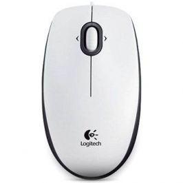 Logitech B100 Optical USB Mouse bílá