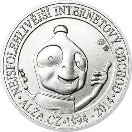 ALZA pamětní stříbrňák  20 let Alza.cz 1/2 Oz,  hmotnost 16 g, 999/1000