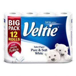 Kleenex Veltie Pure & soft toaletní papír 3 vrstvy 12 rolí
