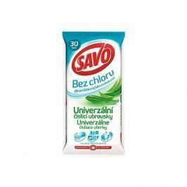 SAVO Bez Chloru Univerzální čistící ubrousky Eukalyptus 30 ks