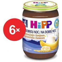 HiPP BIO Kaše na dobrou noc krupicová s banánem - 6× 190 g