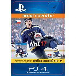 500 NHL 17 Points Pack - PS4 CZ Digital