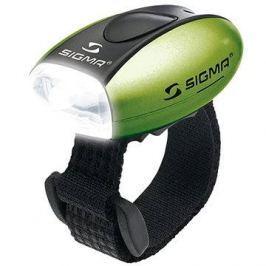 Sigma Micro zelená / přední světlo LED-bílá