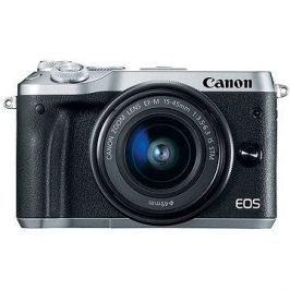 Canon EOS M6 stříbrný+ EF-M 15-45mm