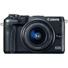 Canon EOS M6 černý + EF-M 15-45mm + 55-200mm