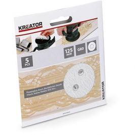 Kreator KRT230555 Sada brusných papírů na barvu G80/125mm, 5ks