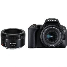 Canon EOS 200D černý + 18-55 mm IS STM + 50 mm f/1,8 STM