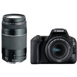 Canon EOS 200D černý + 18-55mm DC III + 75-300mm DC III