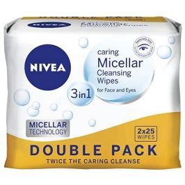 NIVEA Cleansing Wipes Micellar Duopack 2 × 25 ks