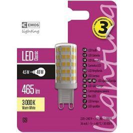 EMOS LED žárovka Classic JC A++ 4,5W G9 teplá bílá