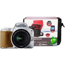 Canon EOS 200D stříbrný + 18-55mm IS STM + Canon Starter Kit
