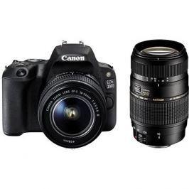 Canon EOS 200D černý + 18-55mm IS STM + TAMRON 70-300mm