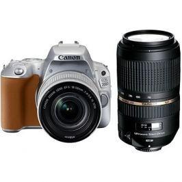 Canon EOS 200D stříbrný + 18-55mm IS STM + TAMRON 70-300mm