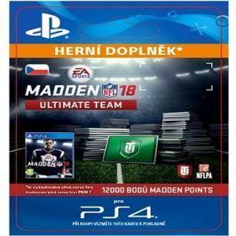 12000  Madden NFL 18 Ultimate Team Points - PS4 CZ Digital