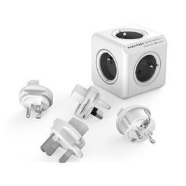 PowerCube Rewirable + Travel Plugs šedá