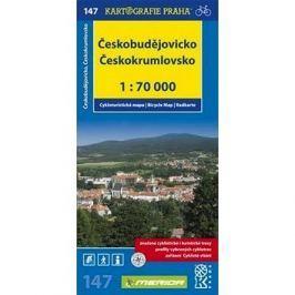 Českobudějovicko Českokrumlovsko: cykloturistická mapa č.147 1:70 000