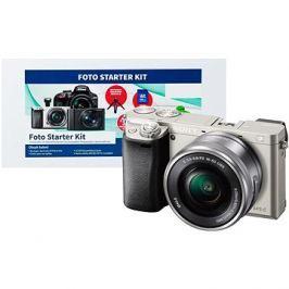 Sony Alpha A6000 stříbrný + objektiv 16-50mm + Alza Foto Starter Kit